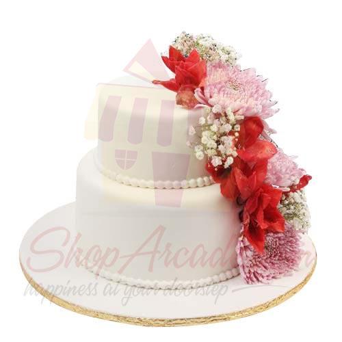 Flower Wedding Cake 10lbs-Sachas