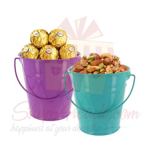 Dry Fruit And Chocs Bucket