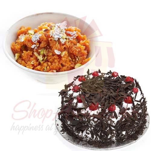 Cake With Gajar Ka Halwa