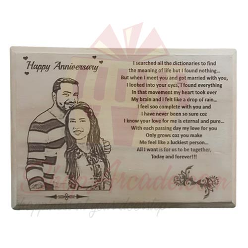 Wooden Picture Plaque