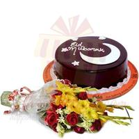 bouquet-with-eid-cake-2lbs