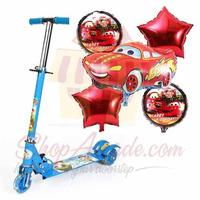 scooty-with-car-balloon