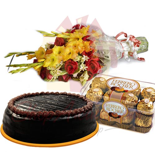 cake-chocolate-flowers