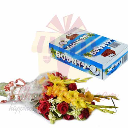 bouquet-with-bounty-box