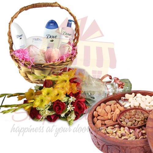 dove-basket,-flowers-and-dry-fruits