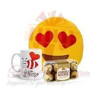 emoji-cushion,-be-mine-mug-and-ferrero