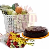 fruits-cake-and-flowers