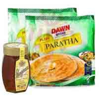 honey-with-frozen-paratha