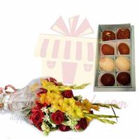 flowers-with-mithai-box-(small)