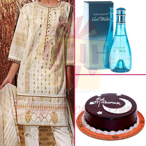 eid-cake-with-perfume-and-suit