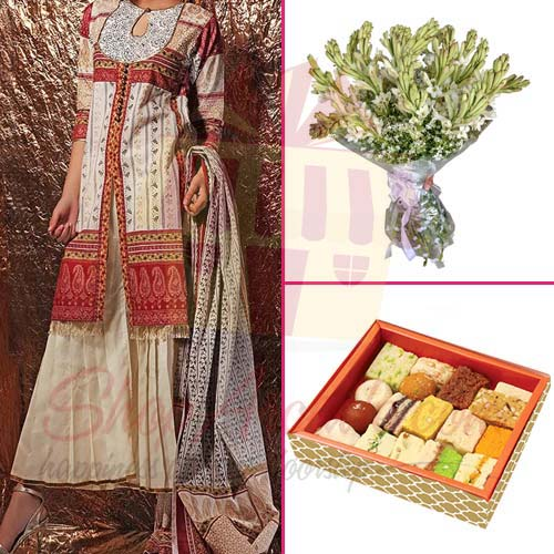 tube-roses-mithai-with-suit