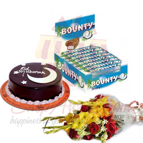 bounty-eid-cake-and-flowers