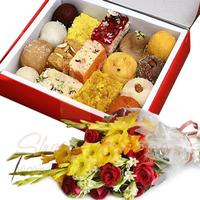 mithai-and-flowers