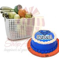 fruits-with-super-dad-cake