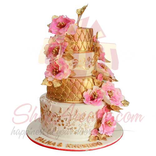 4-tier-floral-cake---black-and-brown