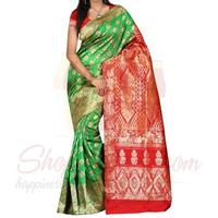 green-banarsi-saree