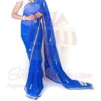 royal-blue-saree