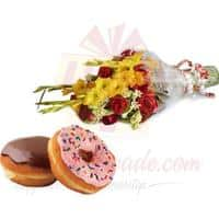 donuts-with-bouquet