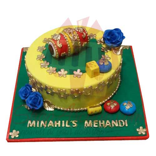 mehendi-theme-cake---black-and-brown