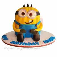 minion-fondant-cake---black-and-brown-