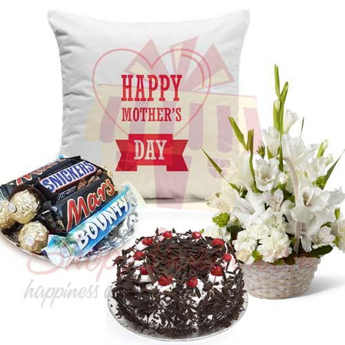 chocs-cake-flowers-cushion