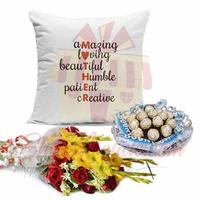 mother-cushion-choc-tray-and-flowers