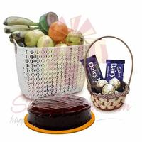 fruits-with-choc-basket-and-cake