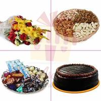 dry-fruits-cake-chocs-flowers