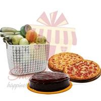 pizza-cake-and-fruits