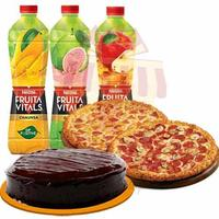 cake-with-pizza-and-juices