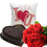 roses-with-cushion-and--heart-cake