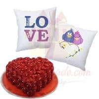 love-cushion-pair-with-heart-rosette-cake