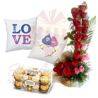 cushion-pair-with-rose-basket-&-chocs