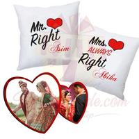 double-heart-frame-with-mr-&-mrs-cushions
