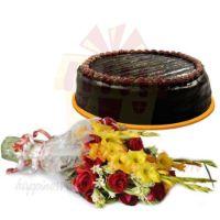 chocolate-cake-with-flowers