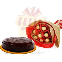 rocher-bouquet-with-cake