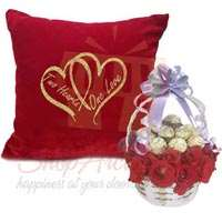 cushion-with-ferrero-rose-basket