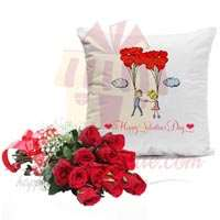 roses-with-couple-cushion