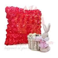 rose-cushion-with-bunny-chocs