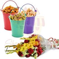 dry-fruit-buckets-with-bouquet